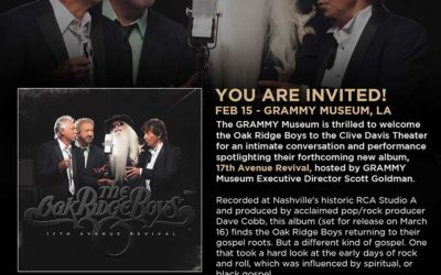 The Oak Ridge Boys set to perform at the Clive Davis Theater