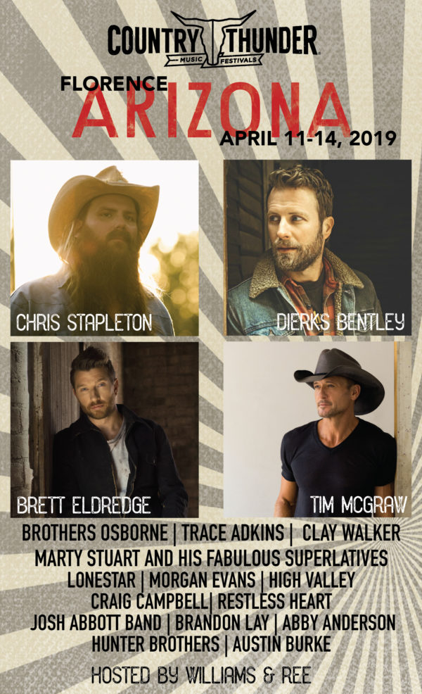Reigning ACM Festival Of The Year – Country Thunder Arizona – Is Set To Rock This Weekend!