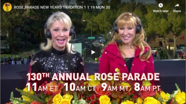 Billy Bob's Pam Minick Set To Host RFD-TV's Coverage Of The 130th Rose Parade on New Year's Day