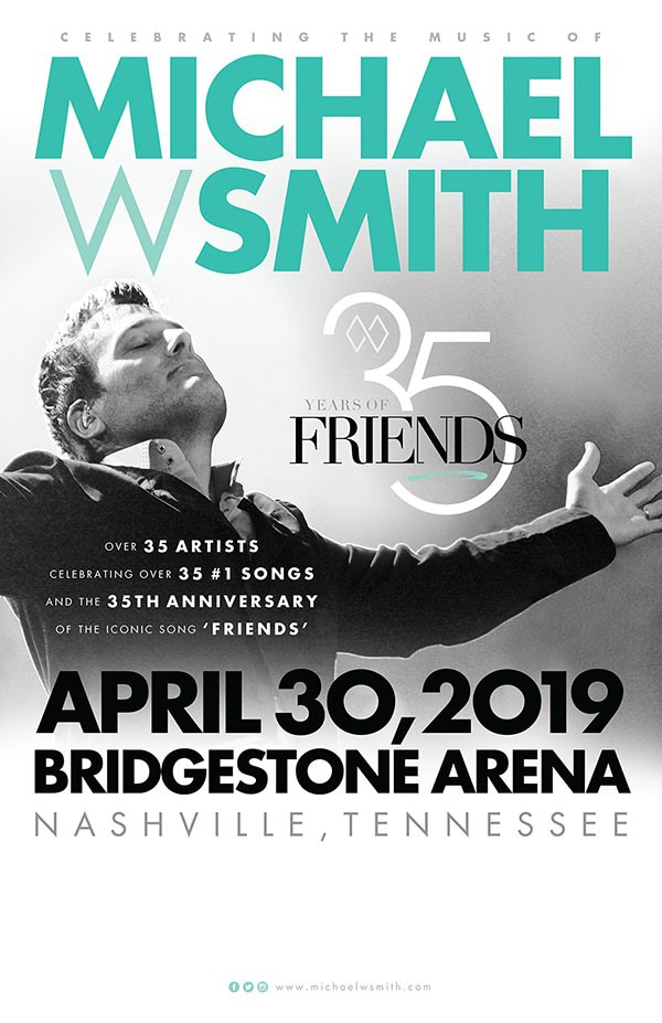Rascal Flatts, Point of Grace, Phil Keaggy, Henry Cho, Nate Bargatze and John Crist Added To Star-Studded Tribute Concert '35 Years Of Friends: Celebrating The Music Of Michael W. Smith' April 30 in Nashville