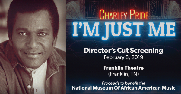 """First Public Viewing of PBS American Masters Documentary About Charley Pride To Premiere At Franklin Theatre, Friday, February 8 With Extended """"Director's Cut"""""""