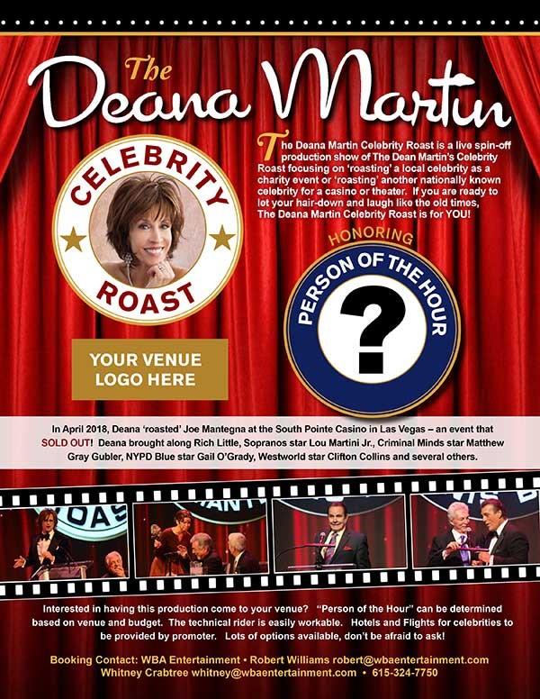 Deana Martin Partners With WBA Entertainment To Produce 'The Deana Martin Celebrity Roasts'