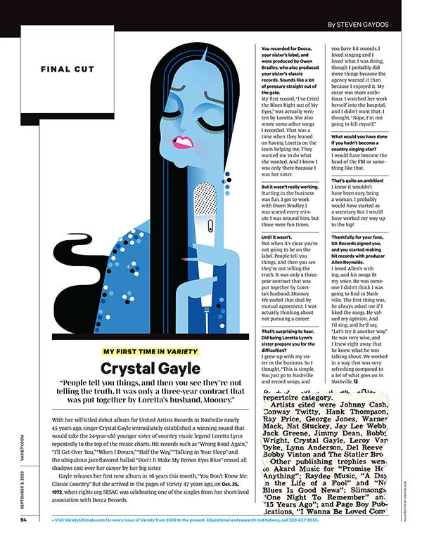 My First Time In Variety: Crystal Gayle