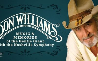 Don Williams: Music & Memories Of The Gentle Giant Gears Up To Premiere With Nashville Symphony At Schermerhorn October 31 – November 2