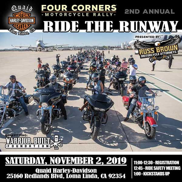 Hundreds Of Bikes Will Cruise Down The Runway Of The San Bernardino International Airport For The 2nd Annual Ride The Runway On Saturday, Nov. 2