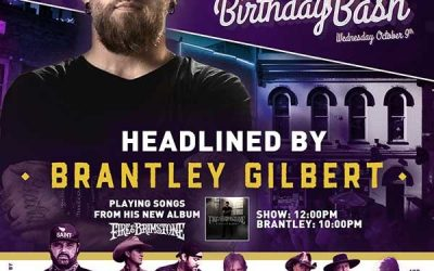 World Famous Tootsie's Orchid Lounge 59th Annual Birthday Bash Wednesday, October 9th Features Brantley Gilbert