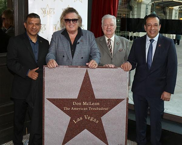 Don McLean Receives Star On Las Vegas Walk Of Stars
