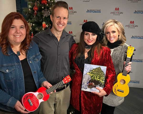 Deborah Allen Spreads Holiday Cheer By Donating 90 Ukuleles To Monroe Carell Jr. Children's Hospital At Vanderbilt; Participates In Christmas 4 Kids Tour Bus Show Charity Event