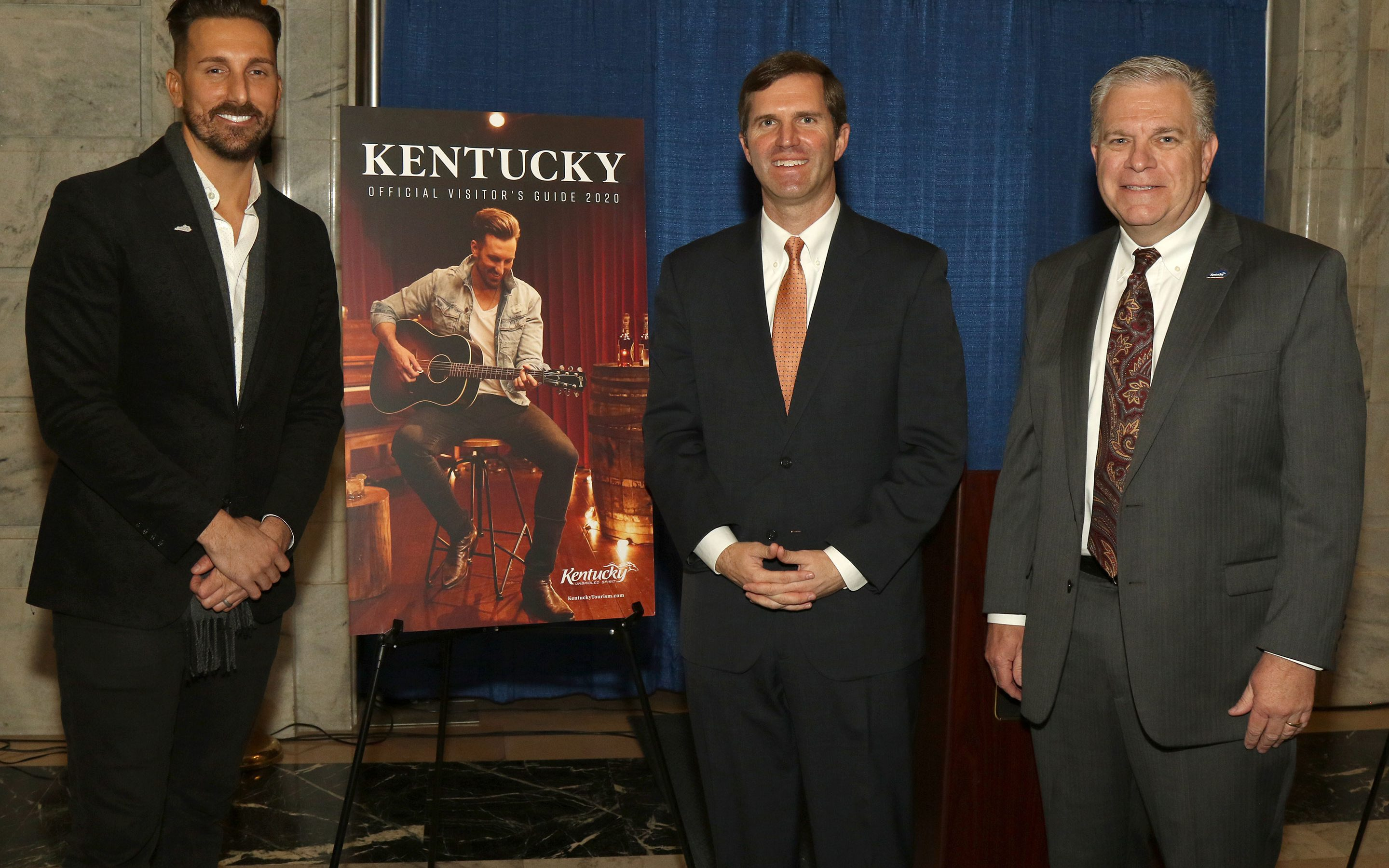 J.D. Shelburne, Kentucky Governor Andy Beshear, Mike Berry