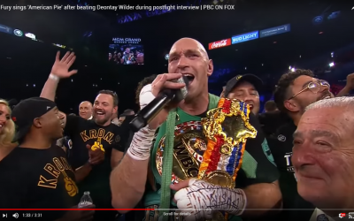 #AmericanPie Trends After Tyson Fury Sings Don McLean's Classic Following Win Over Deontay Wilder