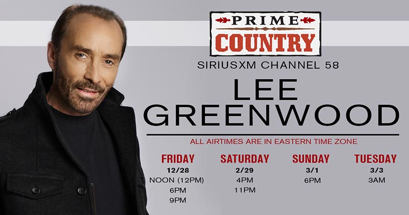 Lee Greenwood SiriusXM Special