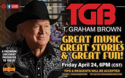 T. Graham Brown Virtual Facebook Concert 'Great Music, Great Stories, Great Fun' Set For This Friday, April 24th at 6:00PM CST
