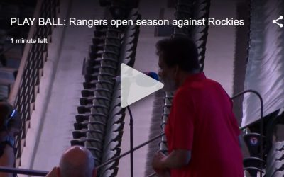 Charley Pride Performs National Anthem at Texas Rangers Season Opener