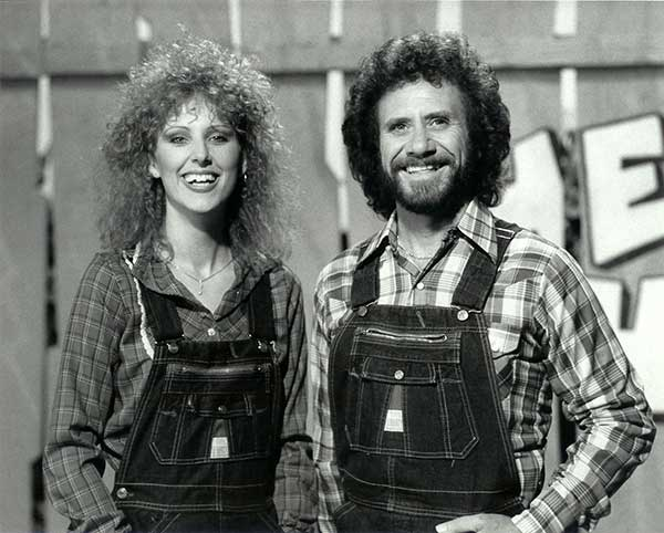 Shelly West & David Frizzell on the set of Hee Haw