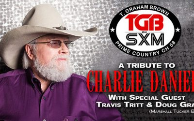 T. Graham Brown Welcomes Travis Tritt & Doug Gray (The Marshall Tucker Band) As His Guests Remembering Charlie Daniels On Live Wire On SiriusXM