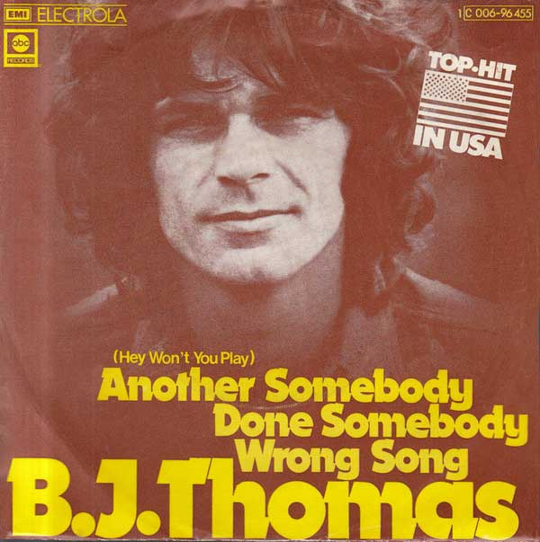 BJ Thomas single cover