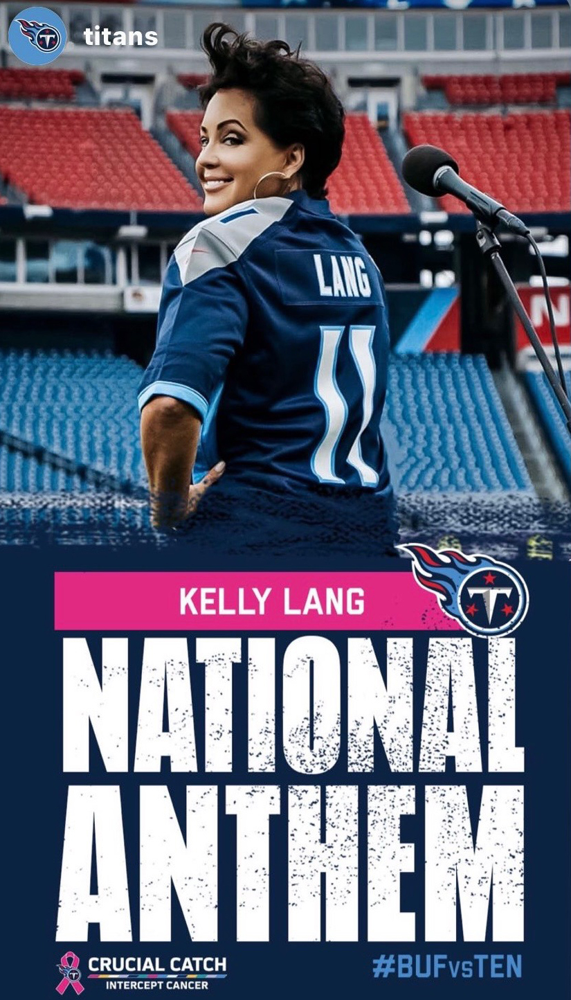 Kelly Lang - Tennessee Titans National Anthem