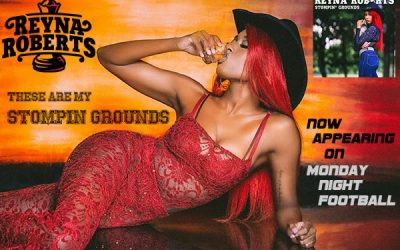 """Country singer/songwriter Reyna Roberts' """"Stompin' Grounds"""" single finds its way to ESPN and NFL's 'Monday Night Football'"""