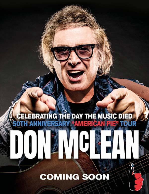 Don McLean World Tour - Coming Soon