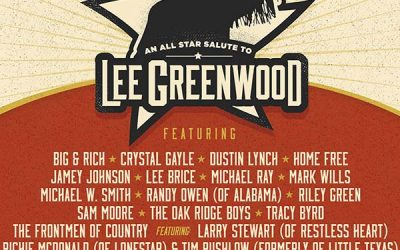 Lee Greenwood To Celebrate 40 Years Of Hits With An All-Star Celebration On October 12, 2021 At The Von Braun Center In Huntsville, Alabama
