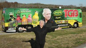 T. Graham Brown tour bus with HillBilly Iced Teas & Lemonade all-over wrap