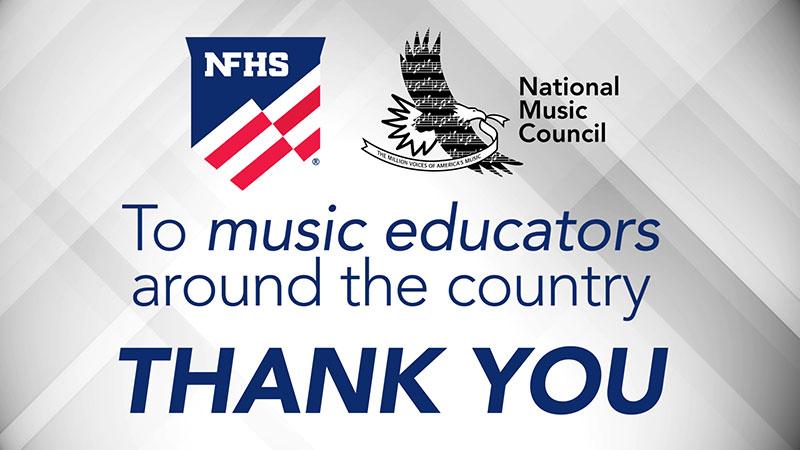 THANK YOU music educators