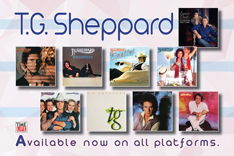 T.G. Sheppard / Time Life (9 album collage)