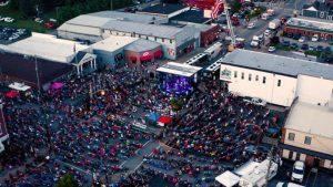 JD Shelburne LIVE concert in Taylorsville, Ky. (aerial image)