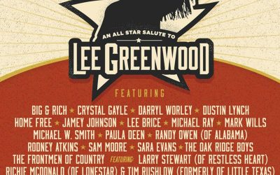 SARA EVANS, RODNEY ATKINS, DARRYL WORLEY AND PAULA DEEN ADDED TO ABC SUPPLY PRESENTS 'AN ALL-STAR SALUTE TO LEE GREENWOOD' ON OCTOBER 12, 2021, IN HUNTSVILLE, ALABAMA