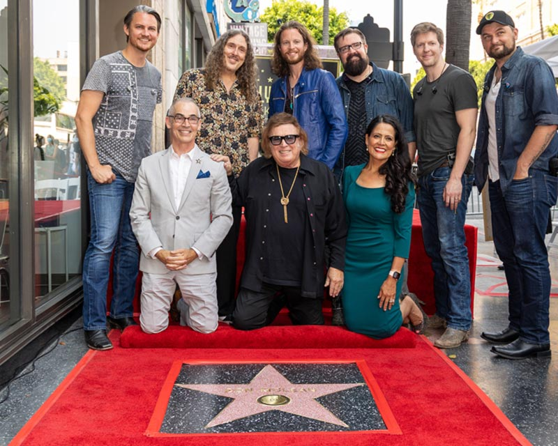 Don McLean at his star on the Hollywood Walk of Fame