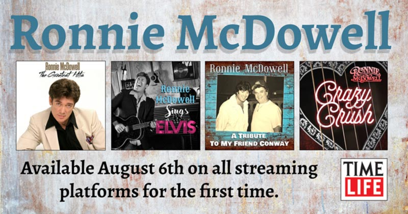 Ronnie McDowell - Time Life four-album banner